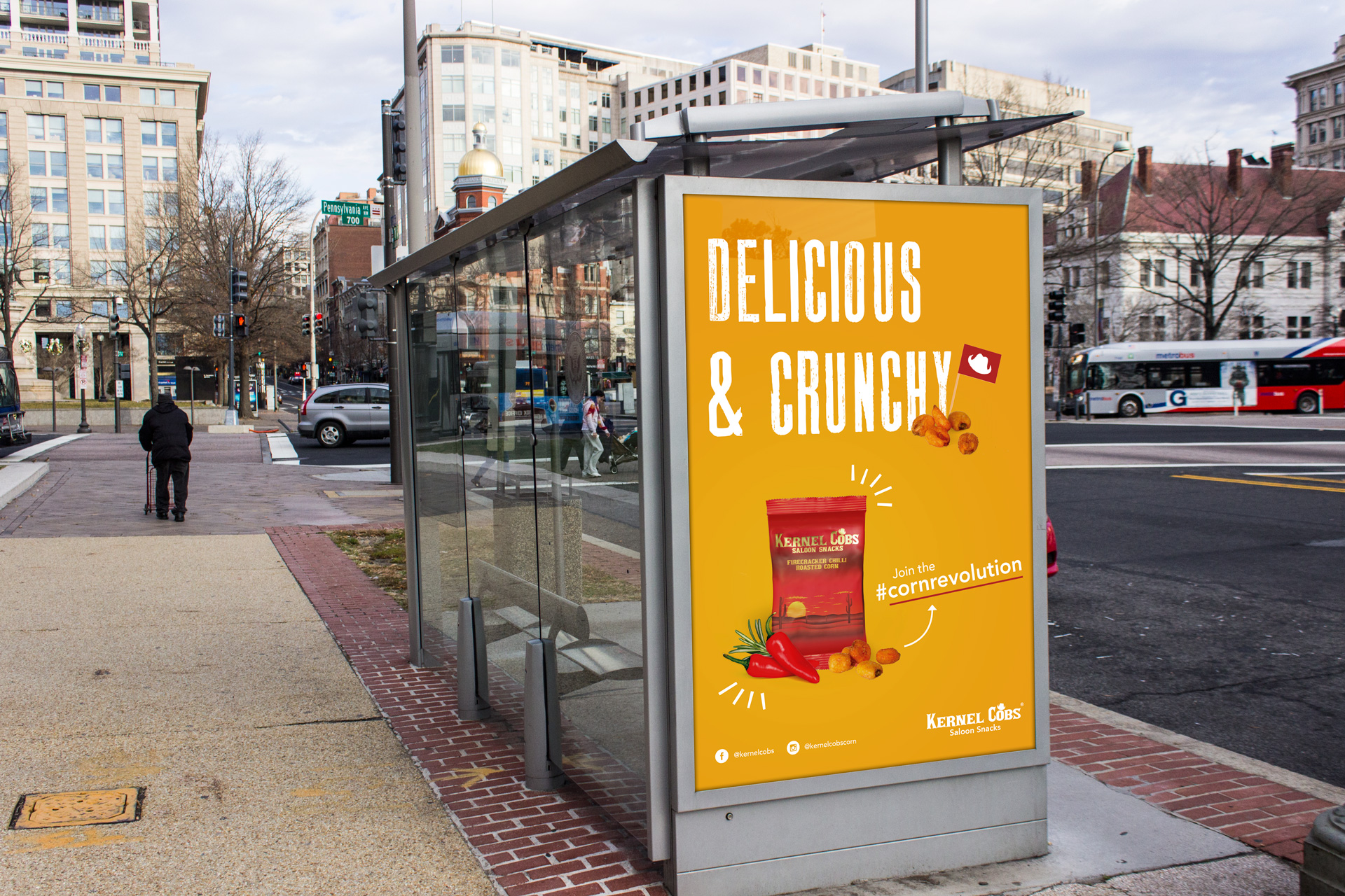 advertising, bus stop, large format, print, advert, design